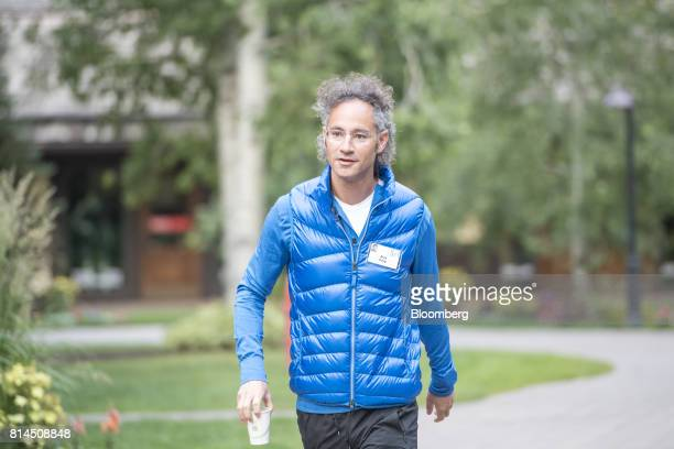 Alexander Karp chief executive officer and cofounder of Palantir Technologies Inc arrives for the morning sessions during the Allen Co Media and...