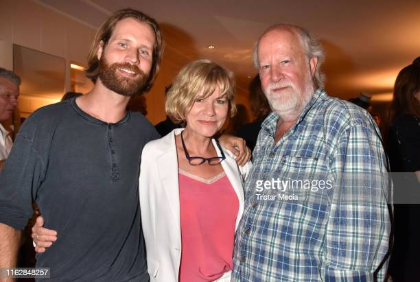 Alexander Kasprik Anne Kasprik and Oren Schmuckler attend the Goetz George Award at Astor Film Lounge on August 19 2019 in Berlin Germany