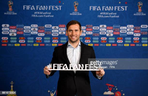 Alexander Kerzhakov poses ahead of the announcement of the new 2018 FIFA Fan Fest Ambassadors for the 2018 FIFA World Cup at the media center on...