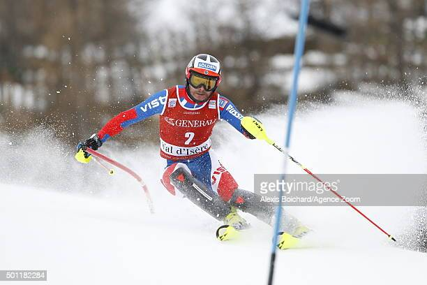 Alexander Khoroshilov of Russia competes during the Audi FIS Alpine Ski World Cup Men's Slalom on December 13 2015 in Val d'Isere France