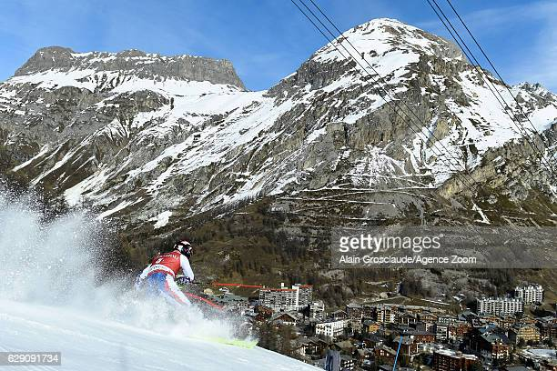 Alexander Khoroshilov of Russia takes 3rd place during the Audi FIS Alpine Ski World Cup Men's Slalom on December 11 2016 in Vald'Isere France