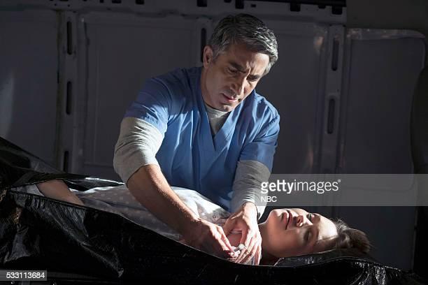 THE BLACKLIST Alexander Kirk Conclusion Episode 323 Pictured Piter Marek as Dr Nik Korpal Megan Boone as Elizabeth Keen