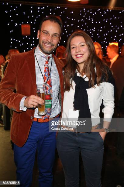 Alexander Klaus Stecher and Charlotte Kaufmann daughter of Jonas Kaufmann during the 23th annual Jose Carreras Gala after party at Bavaria...