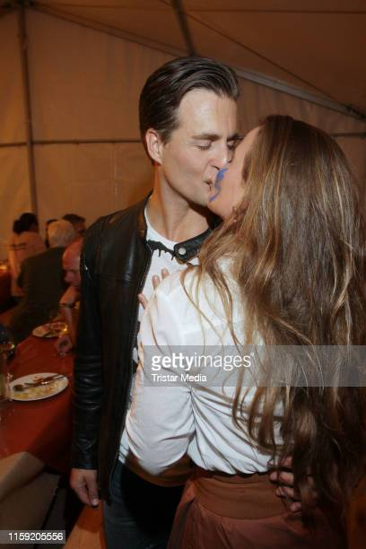 Alexander Klaws and his girlfriend Nadja Scheiwiller during the premiere of the Karl May Festival on June 29 2019 in Bad Segeberg Germany