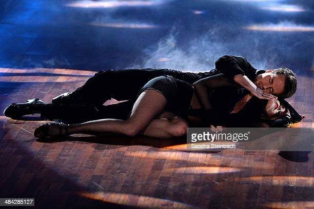 Alexander Klaws and Isabel Edvardsson attend the 3rd Show of 'Let's Dance' on RTL at Coloneum on April 11 2014 in Cologne Germany