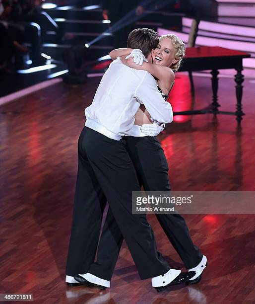 Alexander Klaws and Isabel Edvardsson attend the 4th Show of 'Let`s Dance' on April 25, 2014 in Cologne, Germany.