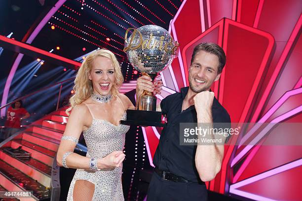 Alexander Klaws and Isabel Edvardsson attend the Let's Dance Finals at MMC Studios on May 30 2014 in Cologne Germany