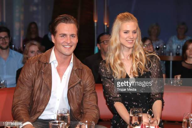 Alexander Klaws and Larissa Marolt during the NDR talk show on June 21 2019 in Hamburg Germany