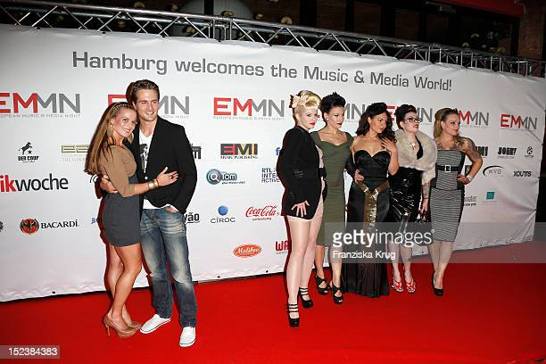 Alexander Klaws and Nadja Scheiwiller and The Sinderellas attend the European Music Media Night in the East Hotel on September 19 2012 in Hamburg...