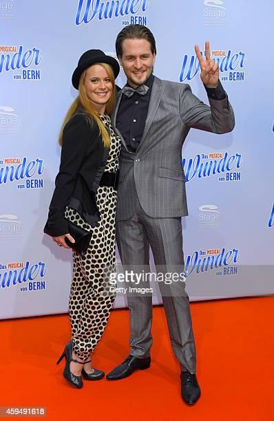 Alexander Klaws and Nadja Scheiwiller attend the 'Das Wunder von Bern' musical premiere on November 23 2014 in Hamburg Germany