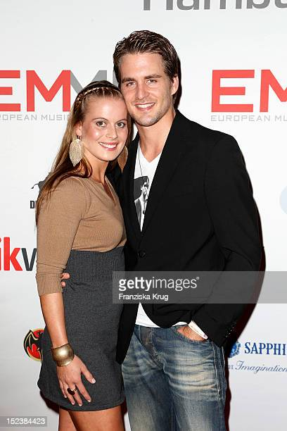 Alexander Klaws and Nadja Scheiwiller attend the European Music Media Night in the East Hotel on September 19 2012 in Hamburg Germany