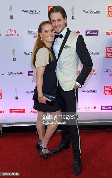 Alexander Klaws and Nadja Scheiwiller attend the 'Goldene Bild Der Frau' Award 2014 at TUI Operettenhaus on November 20, 2014 in Hamburg, Germany.
