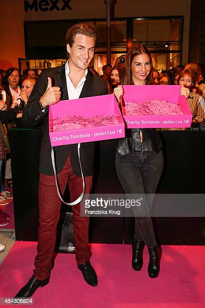 Alexander Klaws and Sila Sahin attends the Late Night Shopping Designer Outlet Soltau on August 28 2014 in Soltau Germany