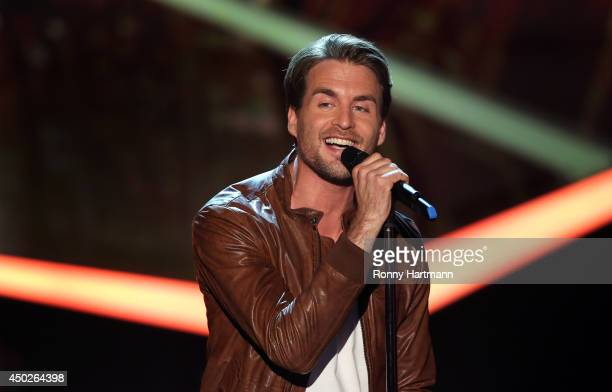 Alexander Klaws performs during the 'Willkommen bei Carmen Nebel' show at GETEC Arena on June 07 2014 in Magdeburg Germany