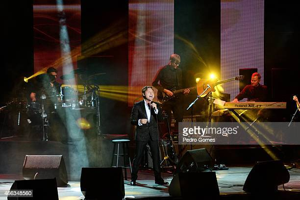 Alexander Kogan performs on stage at Ulker Sports Arena on March 14 2015 in Istanbul Turkey