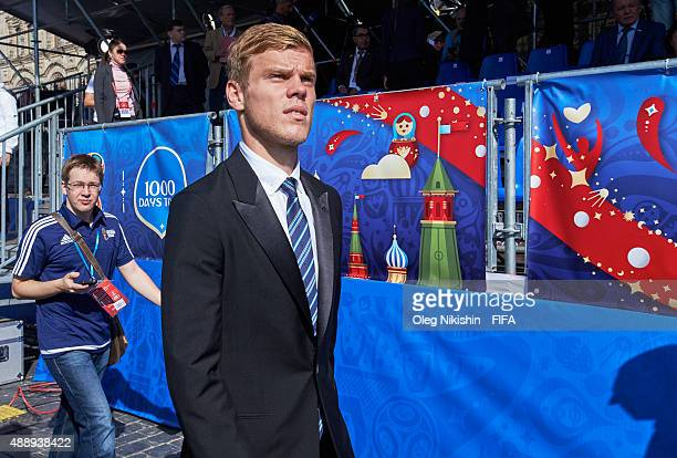Alexander Kokorin before opening Ceremony of the U16 Young Tournament during FIFA '1000 Days to Go' Russia 2018 at the Red Square on September 18...