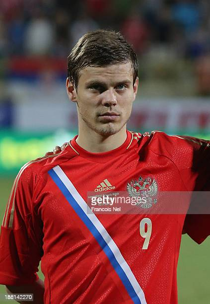 Alexander Kokorin of Russia prior to the International Football match between Serbia and Russia at the Zabeel Staduim on November 15 2013 in Dubai...