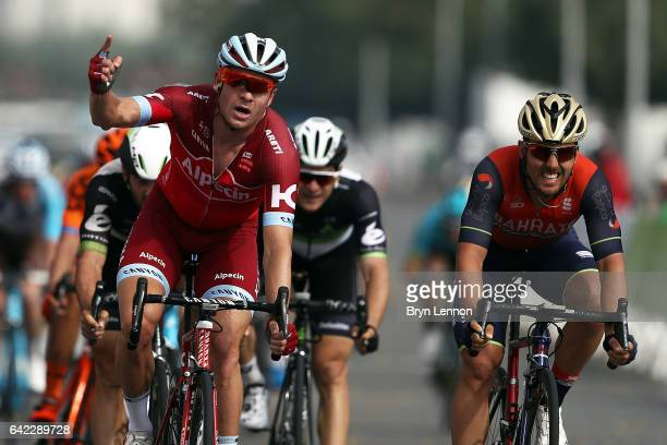 Alexander Kristoff of Norway and Team Katusha Alpecin celebrates winning stage four of the 8th Tour of Oman a 118km stage from Yiti to the Ministry...