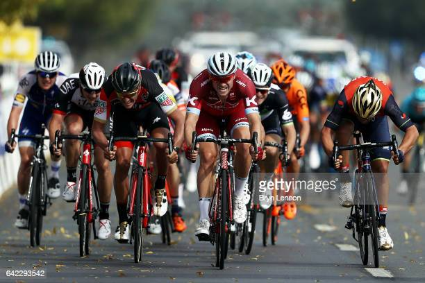 Alexander Kristoff of Norway and Team Katusha Alpecin on his way to winning stage four of the 8th Tour of Oman a 118km stage from Yiti to the...