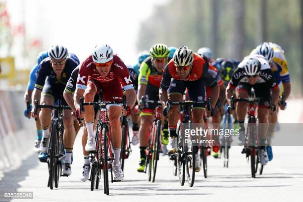 Alexander Kristoff of Norway and Team Katusha sprints to victory on stage one of the 8th Tour of Oman a 1765km stage from Al Sawadi Beach to Naseem...