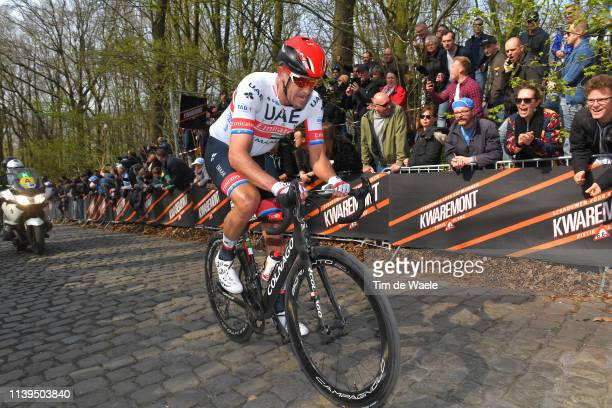 Alexander Kristoff of Norway and UAE Team Emirates / Kemmelberg / Cobblestones / Fans / Public / during the 81st Gent-Wevelgem In Flanders Fields...