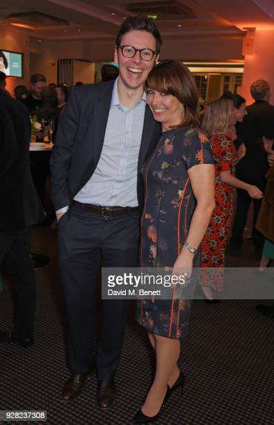 Alexander Kutner and Kay Burley attend the launch of InterTalent Rights Group at BAFTA on March 6 2018 in London England