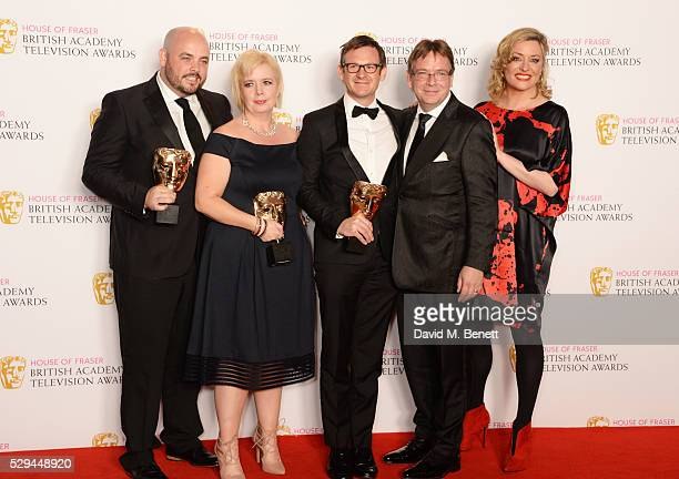 Alexander Lamb Sharon Batten Dominic TreadwellCollins Adam Woodyat and Laurie Brett winners of the Best Soap and Continuing Drama Award for...
