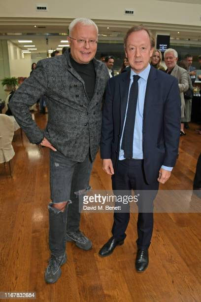 Alexander Lebedev and Geordie Greig attend the launch of new book Hunt the Banker The Confessions Of A Russian ExOligarch by Alexander Lebedev on...