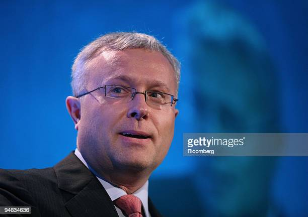 Alexander Lebedev of the Russian State Duma speaks at the Russian Economic Forum in central London UK Monday April 23 2007 Lebedev owner of 30...