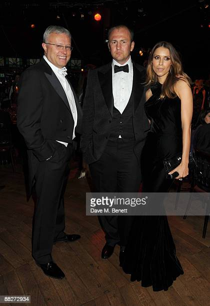 Alexander Lebedev with Andrei Melnichenko and wife Aleksandra attend the Raisa Gorbachev Foundation Annual Fundraising Gala Dinner at the Stud House...