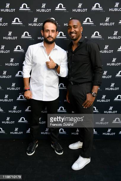 Alexander Levy and Abdoulaye Fadiga attend the launch of Hublot x Champion Spirit on June 27 2019 in Paris France