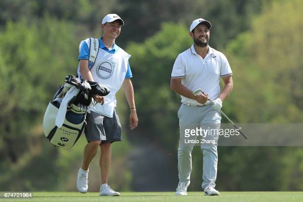 Alexander Levy of France looks on during the third round of the 2017 Volvo China open at Topwin Golf and Country Club on April 29 2017 in Beijing...