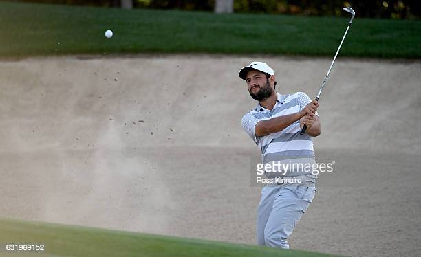 Alexander Levy of France on the 4th hole during the proam event prior to the Abu Dhabi HSBC Championship at Abu Dhabi Golf Club on January 18 2017 in...