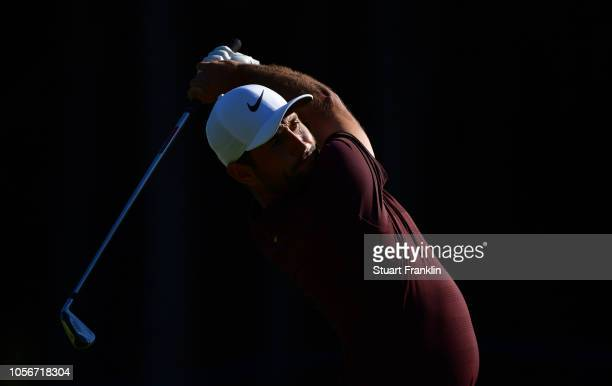 Alexander Levy of France plays a shot during the third round of the Turkish Airlines Open on November 3 2018 in Antalya Turkey