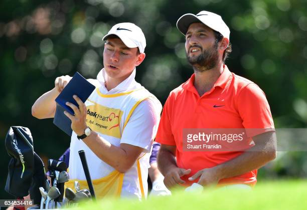 Alexander Levy of France prepares for a shot during Day Four of the Maybank Championship Malaysia at SaujanaGolf Club on February 12 2017 in Kuala...