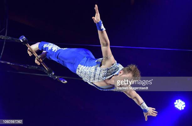 Alexander Lichner during the second show premiere of the winter season as part of the 100th anniversary celebrations at Circus Krone on February 1...