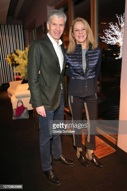 "Alexander Liegl and his wife Isabelle Liegl during the vernissage and 99th birthday party of Fuerstin Marianne ""Manni"" zu Sayn-Wittgenstein-Sayn at..."