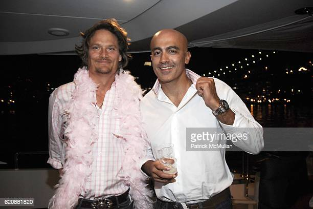 Alexander Lis and Alex Tahsili attend Hot Pink Birthday Bash for HEIDI LEE at Seascape Yacht on August 20 2008 in New York City