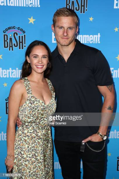 Alexander Ludwig and Kristy Dawn Dinsmore arrive at the Entertainment Weekly ComicCon Celebration at Float at Hard Rock Hotel San Diego on July 20...