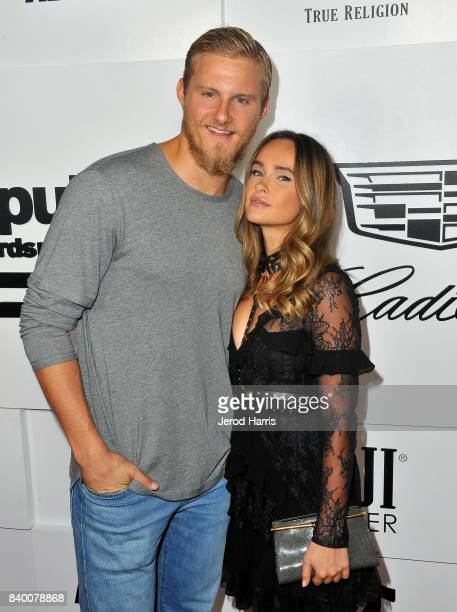 Alexander Ludwig and Kristy Dawn Dinsmore attend the VMA after party hosted by Republic Records and Cadillac at TAO restaurant at the Dream Hotel on...