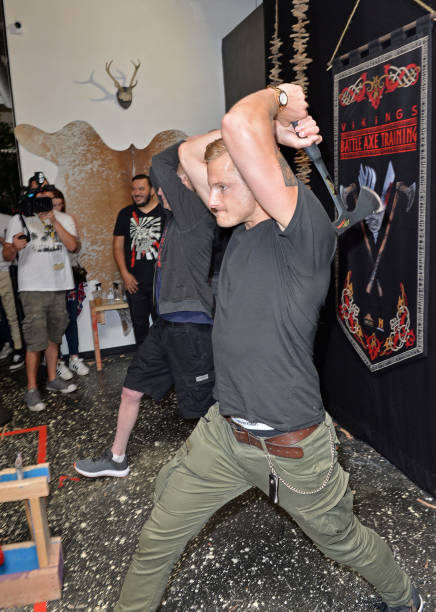 CA: Vikings Battle Axe Training At San Diego Comic-Con 2019
