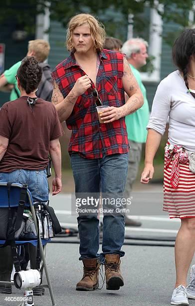 Alexander Ludwig is seen on the set of 'Grown Ups 2' on June 27 2012 in Boston Massachusetts