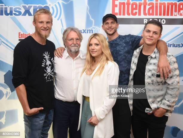 Alexander Ludwig Michael Hirst Katheryn Winnick Gustaf Skarsgard and Alex Hogh attend SiriusXM's Entertainment Weekly Radio Channel Broadcasts From...