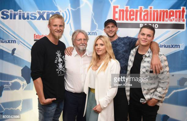 Alexander Ludwig Michael Hirst Katheryn Winnick Gustaf Skarsgard and Alex Hogh attend SiriusXM's Entertainment Weekly Radio Channel Broadcasts From...