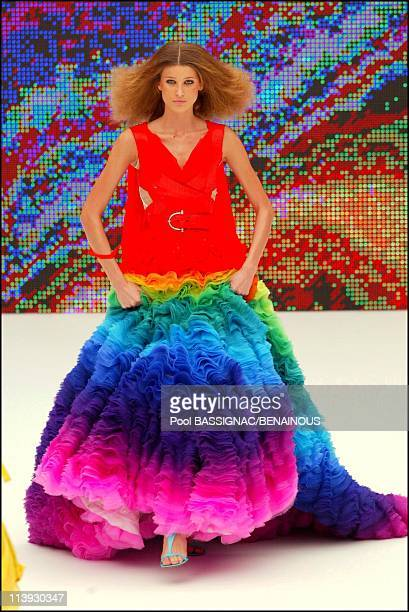 Alexander Mac Queen fashion show for the SpringSummer 2003 Readytowear collections In Paris France On October 05 2002