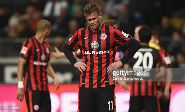 Alexander Madlung of Eintracht Frankfurt is seen during the Bundesliga match between Eintracht Frankfurt and Borussia Moenchengladbach at...