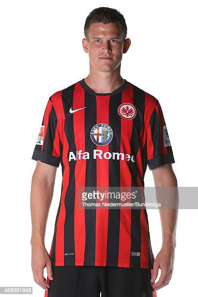 Alexander Madlung of Frankfurt poses during the team presentation at Commerzbank-Arena on July 29, 2014 in Frankfurt am Main, Germany.
