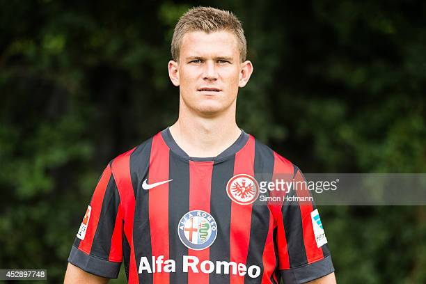 Alexander Madlung poses during the Eintracht Frankfurt Team Presentation at Commerzbank-Arena on July 29, 2014 in Frankfurt am Main, Germany.