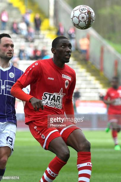 Alexander Maes of Beerschot Wilrijk William Owusu Acheampong midfielder of Antwerp FC during the Jupiler Pro League play off 2 match between Royal...