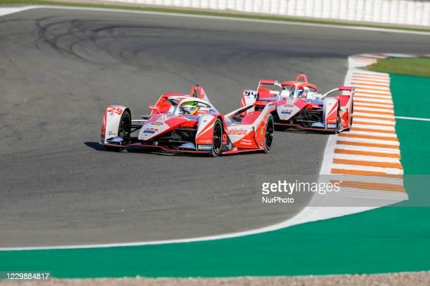 Alexander , Mahindra Racing, Mahinda M7Electro, action and 94 LYNN Alexandre , Mahindra Racing, Mahinda M7Electro, action during the ABB Formula E...